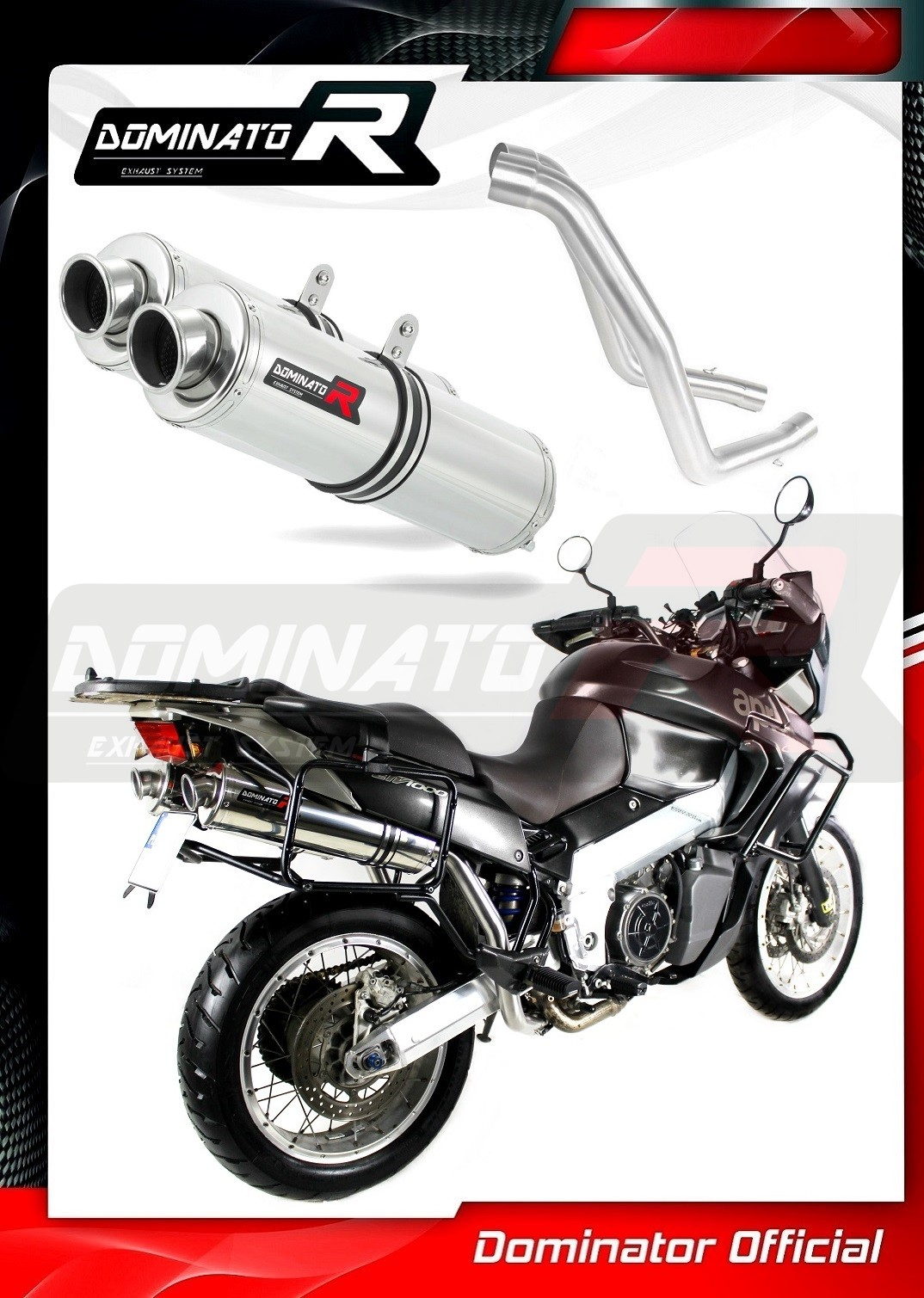 Exhaust silencer muffler Dominator ROUND compatible with R1200GS 10-12 2010-2012 DB KILLER